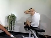 Plan cul à la salle de muscu