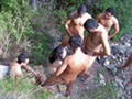 Gangbang in the woods - HD