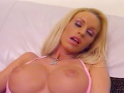 A pretty blonde babe masturbates for you xxx videos