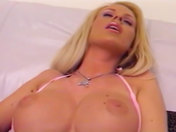 A pretty blonde babe masturbates for you porn videos