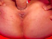 Brune et haut brillant pour baise et sperme entre les dents - HD