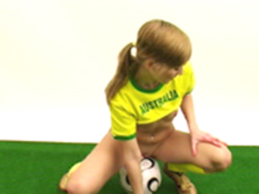 Supportrice rousse australienne et show sexy !