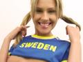 Suédoise coquine en tenue de foot !