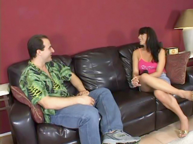 Sexy dark-haired chick and heavy dick