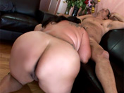 Tattooed fatty gets screwed by a dirty old dog!